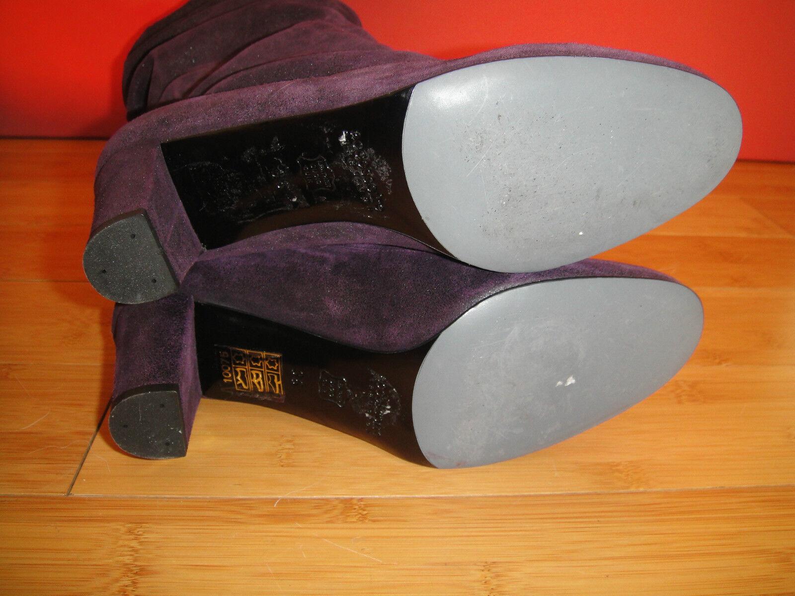 Superb ACCESSOIRE  DIFFUSION purple shiny leather  ACCESSOIRE slouch  boots EU 36  *59* 3b0635