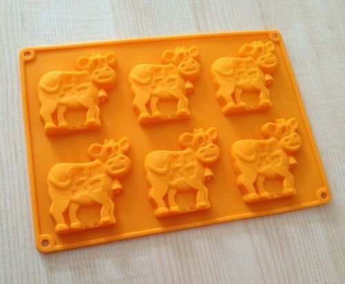 Cake Mold Soap Mold 6-Cows Cattle Mold Silicone Mould For ice lattice