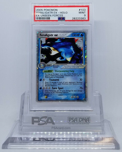 POKEMON EX UNSEEN FORCES FERALIGATR EX 103 115 HOLO FOIL PSA 9 MINT