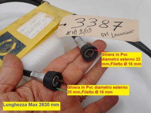 Cavo contachilometri completo per Fiat OM Leoncino secondo tipo Lungh Mt 2,63