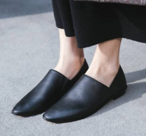 Women-Leather-Flats-Pointed-Toe-Loafers-Casual-Moccasin-Driving-Shoes-Slip-On-B9