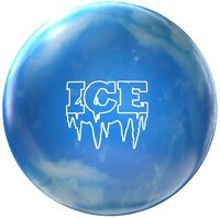 13lb Ice Polyester Bowling Ball Ice Blue Spare Ball Ideal Dry Lane Ball