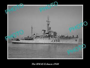 OLD-LARGE-HISTORIC-PHOTO-OF-THE-AUSTRALIAN-NAVY-SHIP-HMAS-ECHUCA-c1940s