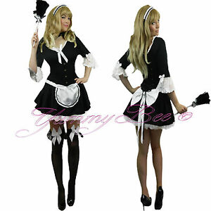 French-Maid-Victorian-Fancy-Dress-Costume-Womens-Plus-Size-6-20-Waitress-Rocky