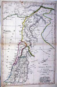 Antique map, Syria, Coelesyria, Phoenicia et Palaestina