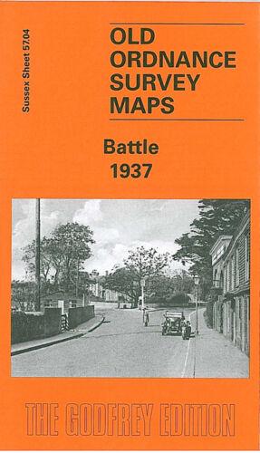 OLD ORDNANCE SURVEY MAP BATTLE 1937 HIGH STREET NORTH TRADE ROAD STARRS GREEN