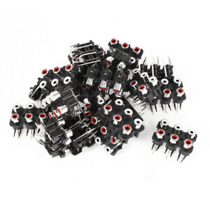 Audio-Video-AV-Concentric-Connector-6-Female-RCA-Socket-Board-20-Pcs