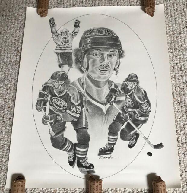 1986/87 Kraft Hockey Posters / Wayne Gretzky and Edmonton Oilers (10  Posters)