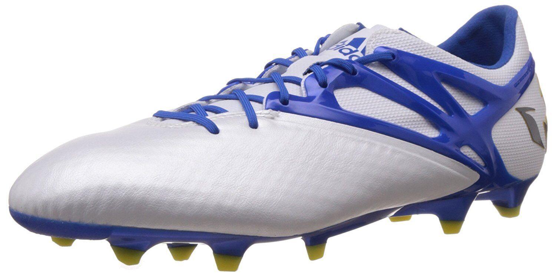 Adidas Messi 15.1 FgAg pelle Sintetica Scarpe da Calcio Uomo Bianco Blu