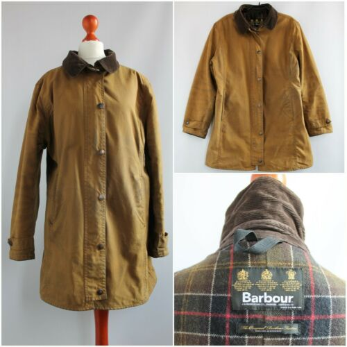 BARBOUR L67 NEWMARKET JACKET WAX UK 14 WAXED COTTO