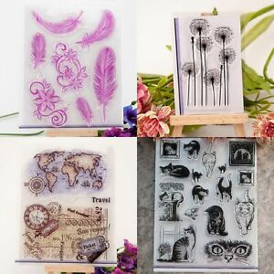 6 Cute Scrapbooking Cat Craft Portable Album Diary lovely Label Calendar St G0E9