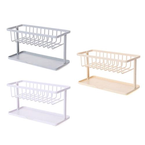 1*ABS Storage Drain Basket Sink Organizer Rack Sponge Caddy Holder Kitchen Tool//