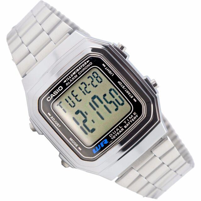 5515b4f07d2e Reloj Nuevo Casio A-178WA-1ACF Hombres 100% Original Alarma Acero Batería 10