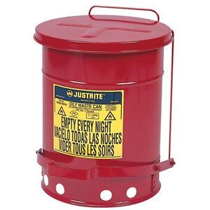 Justrite 6 Gallon Oily Rag Can 09100 Made In Usa Ebay