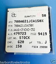 47x Atc700a621jca150x American Technical Ceramics Rf Microwave 620pf 150v 5