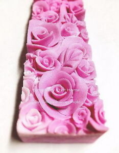 Blooming Rose loaf silicone soap mold, silicone soap mold, silicone loaf mold
