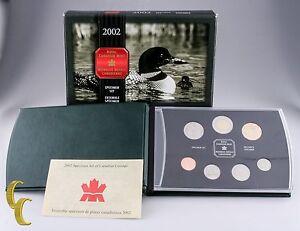 2002-Canada-Specimen-7-pc-Coin-Set-Royal-Canadian-Mint-BU-Condition