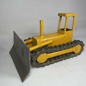 Handmade Crafted Recycled Upcycled BULLDOZER Rustic Metal Art Sculpture Ornament
