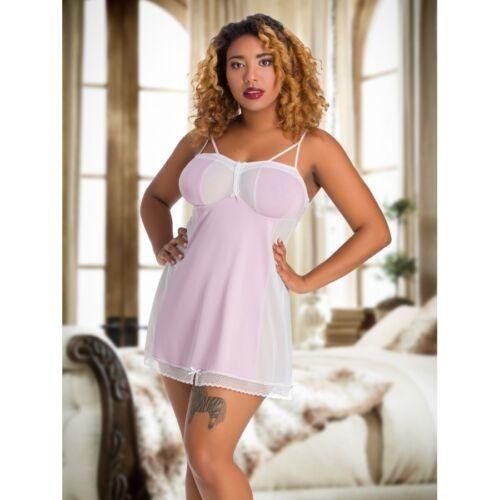 Grande taille Vieux Rose Babydoll Slip Nightwear Nuptiale Mesh Short 10-26 UK Femmes