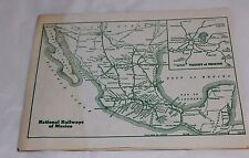 National Railways of Mexico Timetable Summer 1950 Free Shipping