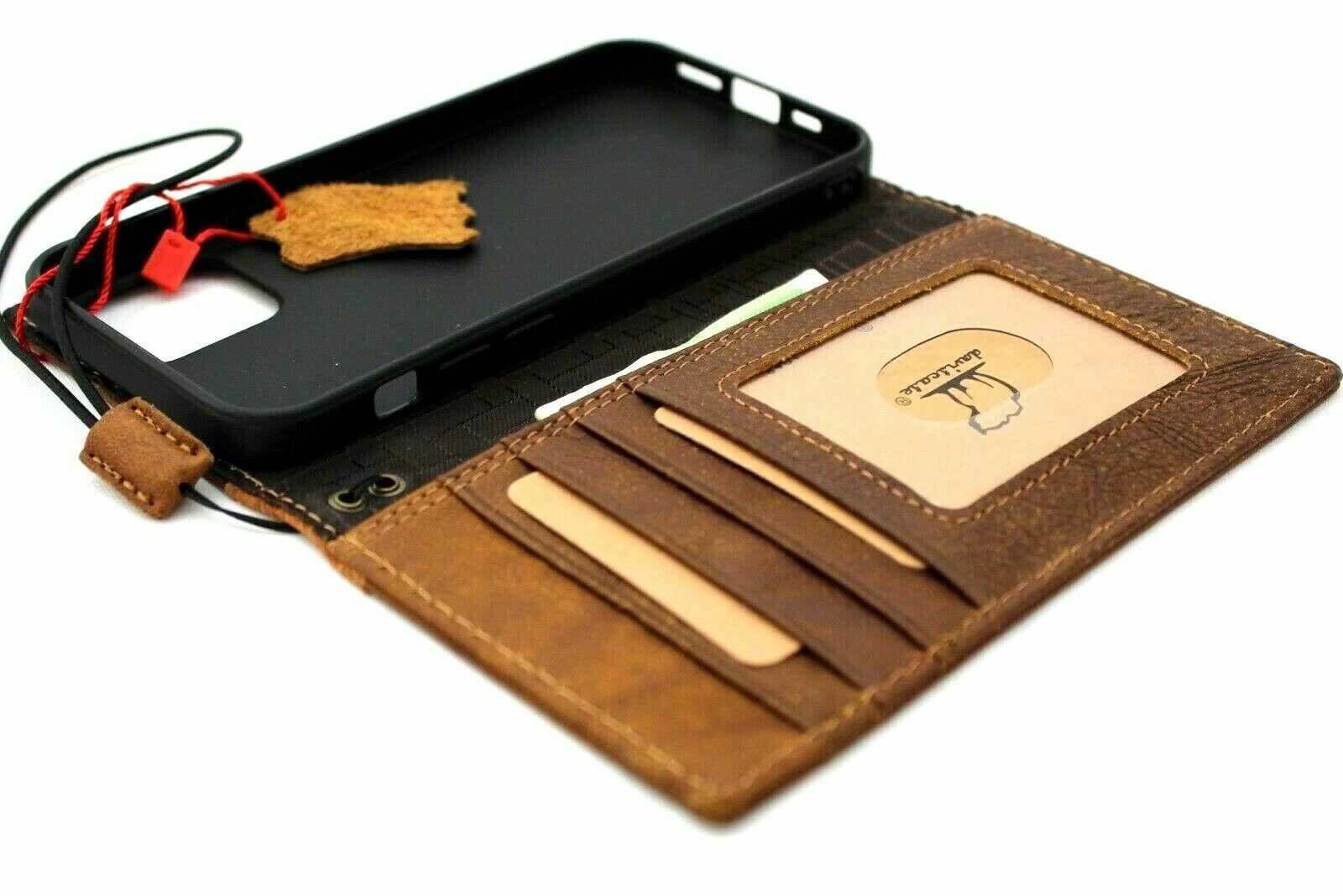 Image 31 - Genuine Vintage Leather Case For Apple iPhone 12 Pro Book Wallet Cover Retro Jaf