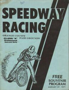 1971-Speedway-Racing-Class-039-039-A-039-039-Pro-Motorcycle-Racing-Orange-County-Program