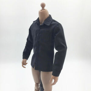 1//6 Men/'s Shirt Clothing for 12/'/' Phicen//Kumik Action Figure Doll Toys Blue