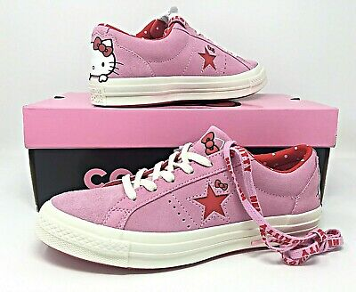 Converse Hello Kitty Womens Sneakers One Star Star OX Prism PinkRed 162939C | eBay