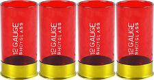 Twelve Gauge Shotgun Shells Shot Glasses Set of 4 Bullet Party Hunting Shooting