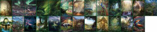 Full Set of Non-Foil Forests Custom Altered Basic Lands MTG