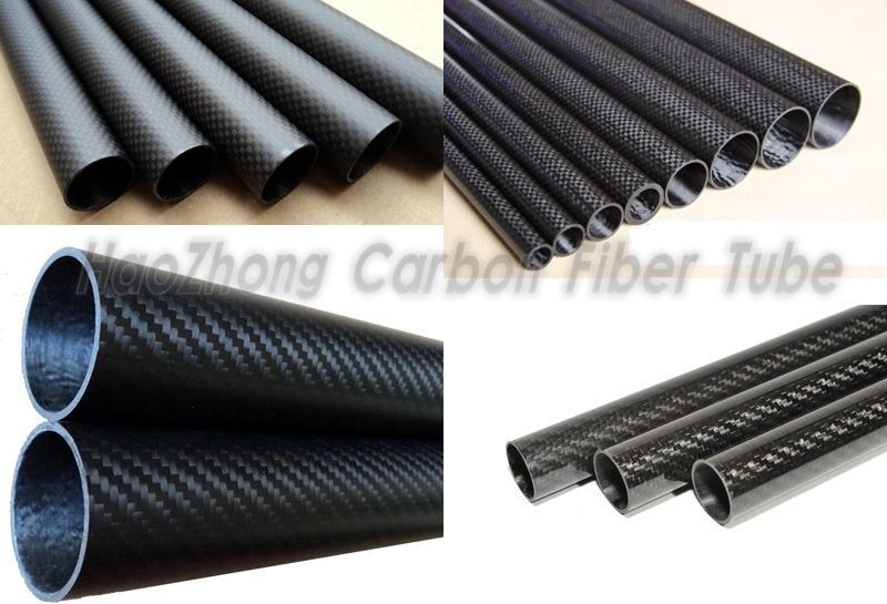 3k Carbon Fiber Tube 5mm 6mm 7mm 8mm 9mm 10mm  Roll Wrapped  X 500mm 1pc-10pc IT