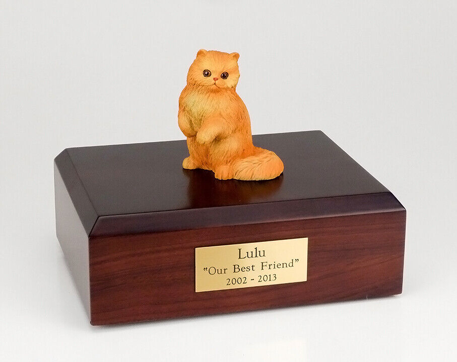 Persian Red Cat Figurine Pet Cremation Urn Available in 3 Diff. colors & 4 Sizes