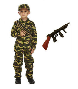 Image is loading Child-Boys-Kids-Army-Soldier-Fancy-Dress-Costume-  sc 1 st  eBay & Child Boys Kids Army Soldier Fancy Dress Costume Party Uniform ...