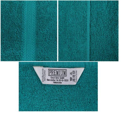 Betz 10 Stück Gästehandtücher Gästetuch Premium 30x50cm smaragdgrün /& silbergrau