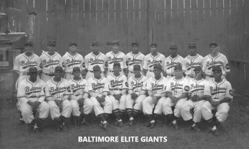 BALTIMORE ELITE GIANTS 8X10 TEAM PHOTO BASEBALL PICTURE NEGRO LEAGUE NY LATE 30s