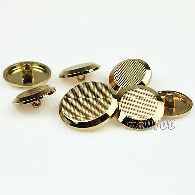12 PCS Gold Shank Suit Button Metal Sewing Embellishment Round 18mm 20mm 23mm