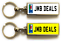 miniature 15 - Personalised Metal Double Sided Registration Number Plate Keyring Any Name /Text