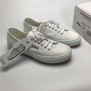 the latest e1457 65e1e Details zu Superga 2750 Cotu Classic Womens White Canvas Trainers UK 6 EUR  39.5 US 8.5