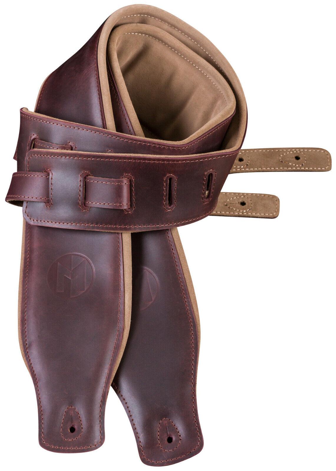 Ledergurt für Bass, Maruszczyk PES50 bordeaux, gepolstert, verstellbar,100-135cm