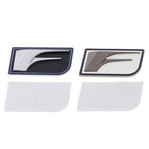 Metal-F-Sport-Logo-Emblem-Badge-Car-Auto-Sticker-Decal-Chrome-Small-Size