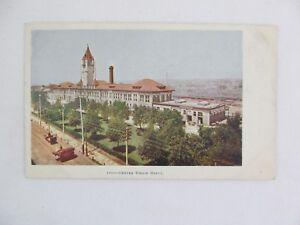 Vintage Postcard Denver Union Train Depot Colorado Railroad Building
