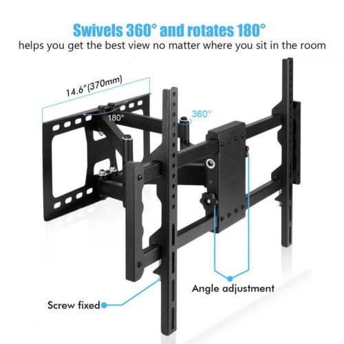 "32-85/"" Full Motion TV Wall Mount Articulating Tilt Bracket Swivel 180° and 360°"
