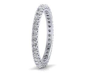 0-75CT-Round-Brilliant-Cut-Diamond-Full-Eternity-Wedding-Ring-in-18K-White-Gold
