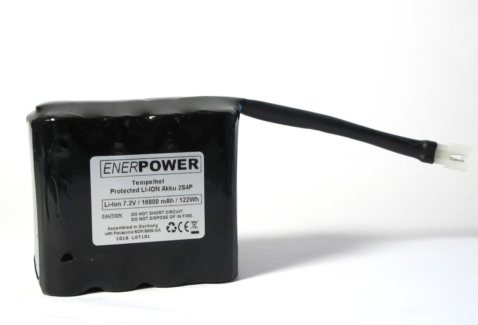 Enerpower Tempelhof batería 7,4v 16,8ah 20700 para el altramuz, Sigma, My Tiny Sun Molex