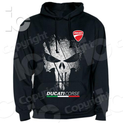 Sweatshirt Ducati Punisher Corse Desmo Hood Crew-neck Hoodi Sweatshit Panigale