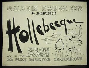 Dessin Original Affiche D'expo Jean Hollebecque Chateauroux Galeries Bourgeois