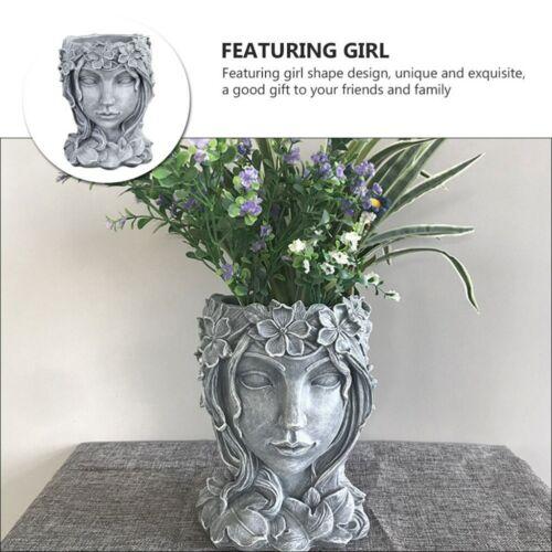 1Pc Girl Planter Girl Flowerpot Succulent Flower Pot Garden Planter Decor