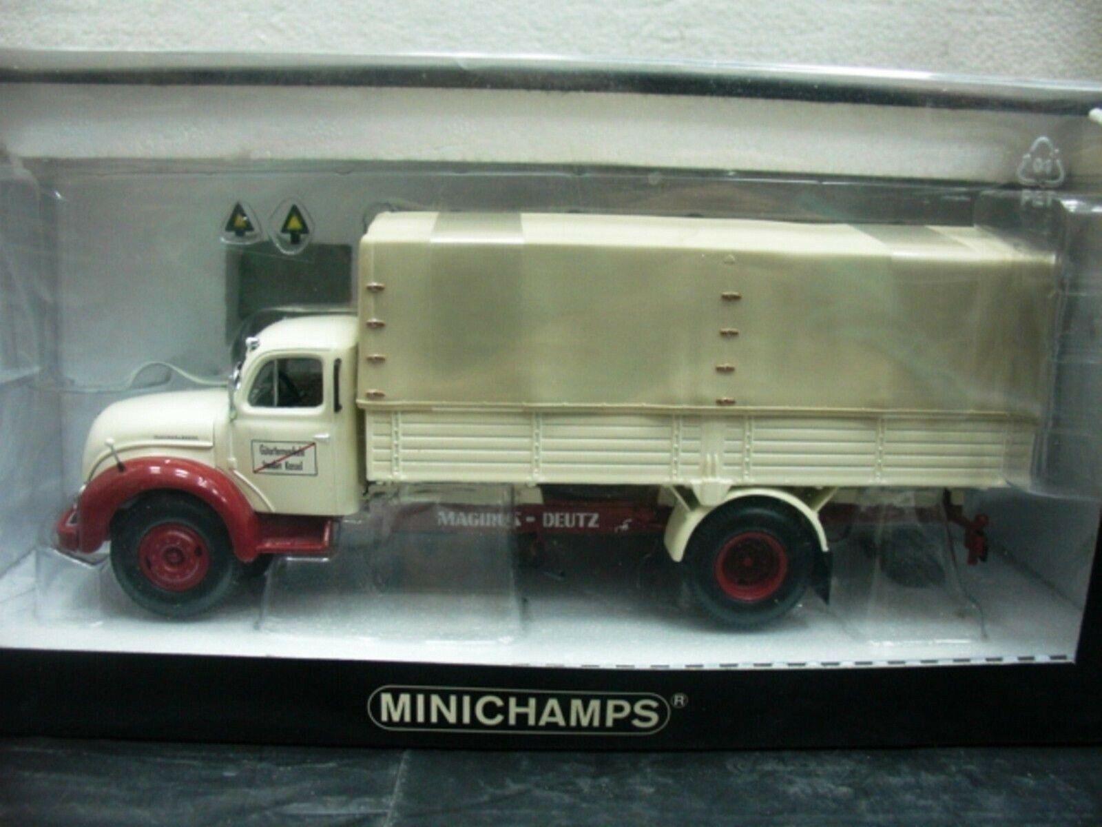 WOW EXTREMELY RARE Magirus S7500 Jupiter 1953 Pritschenwagen 1 43 Minichamps-860