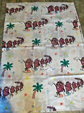 1988 Bibb CALIFORNIA RAISINS Twin Flat Sheet/Fabric  Dancing Raisins SHIPS FREE!