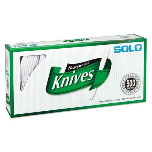 SOLO CUPS Heavyweight Plastic Cutlery Knives White 7 in 500//Carton 827271